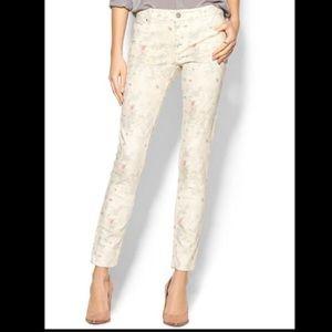 Sanctuary White Floral Skinny Jeans 29